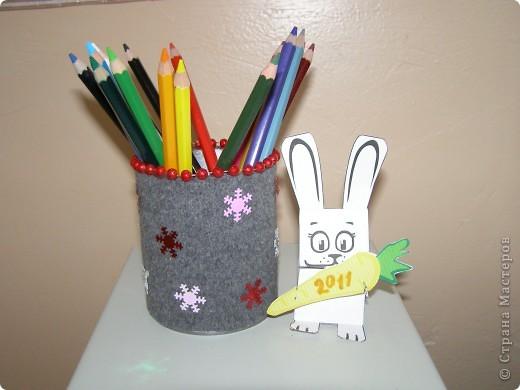Совсем простая подставка для карандашей и ручек