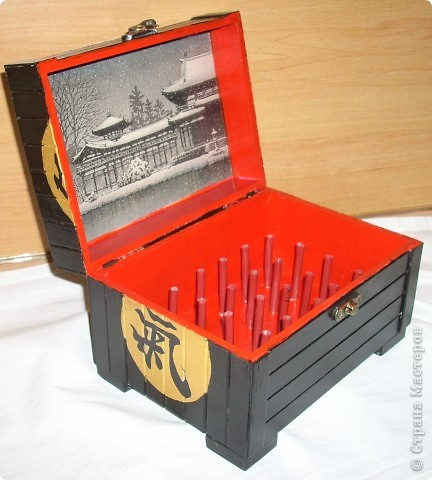 китайская шкатулка для катушек фото 1
