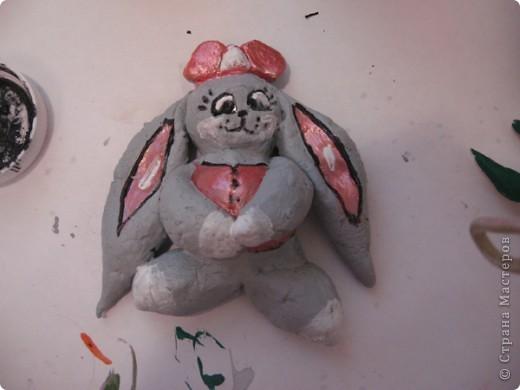 Вот такого зайчишку мы сделали с моей младшей сестрой (двоюродной, ей 4 года). На всю работу мы потралили два часа фото 14