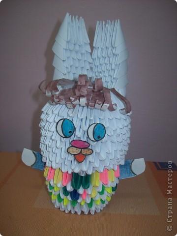 Осваиваем модульное оригами. Работа моей ученицы Марченко Алины.
