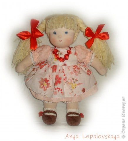 Портретная куколка, была на заказ :) Очаровательнейшее создание! 32 см фото 2