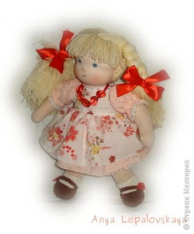 Портретная куколка, была на заказ :) Очаровательнейшее создание! 32 см фото 1