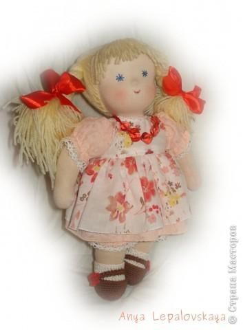 Портретная куколка, была на заказ :) Очаровательнейшее создание! 32 см фото 3