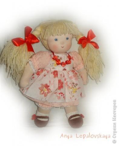Портретная куколка, была на заказ :) Очаровательнейшее создание! 32 см фото 4