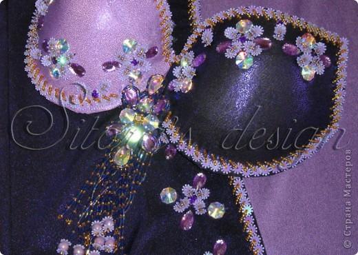 "Фрагмент расшивки лифа костюма для bellydance ""Графиня Вишня"" фото 3"