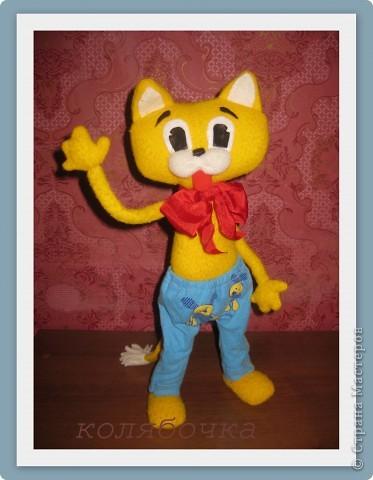 """С самого детства мечтала иметь кота-Леопольда.Наконец-то моя мечта сбылась.Весь вечер сегодня """"игралась"""" с новой игрушкой,результаты ниже фото 1"""