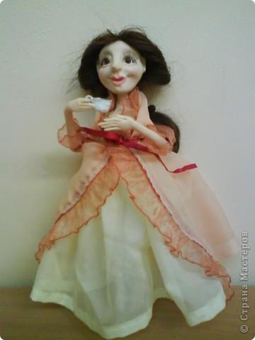 Кукла <u>туловище куклы мастер класс</u> изготовлена из материала ФИМО. Рост куклы25 см. фото 1