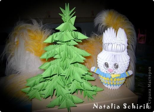 Модульная елка и заяц фото 2