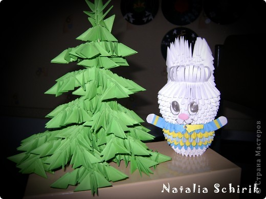 Модульная елка и заяц фото 1