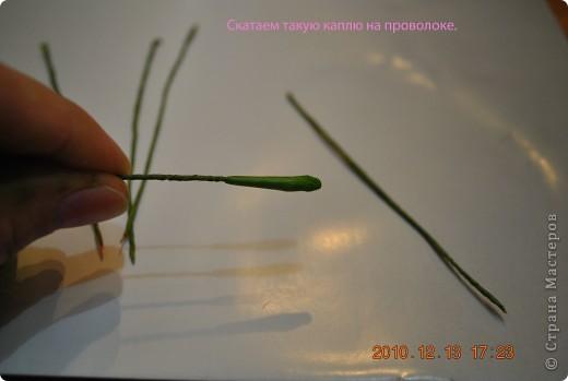 Мастер-класс Лепка МК по лепке розы Часть3-веточки Фарфор холодный фото 4