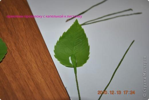 МК по лепке розы. Часть3-веточки. фото 5