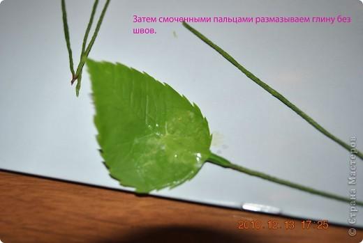 МК по лепке розы. Часть3-веточки. фото 6