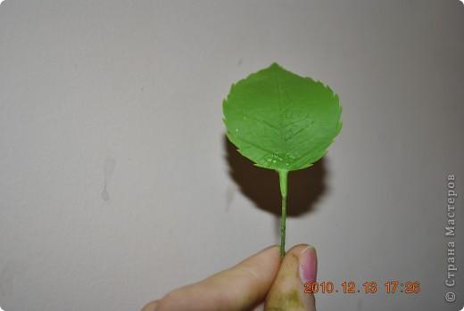 МК по лепке розы. Часть3-веточки. фото 7