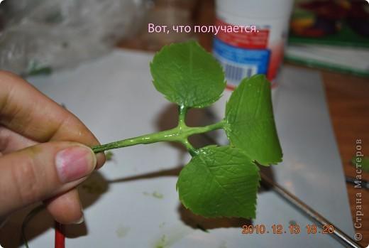 МК по лепке розы. Часть3-веточки. фото 11