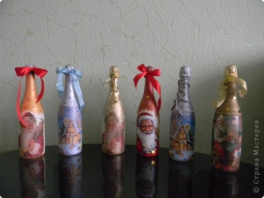 Бутылочки к Новому году готовы!!!!!!!!!!!!!!! фото 2