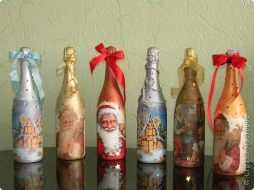 Бутылочки к Новому году готовы!!!!!!!!!!!!!!! фото 1