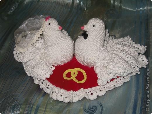Схема вязанных голубей