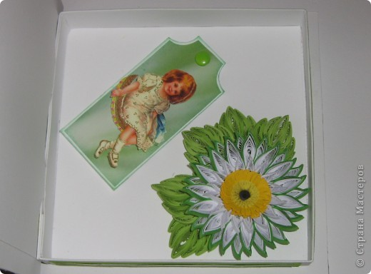 Институтской подруге на юбилей попробовала сделать коробочку по МК Pypsik http://stranamasterov.ru/node/94427?c=favorite_b. Крышка с открыткой. фото 2