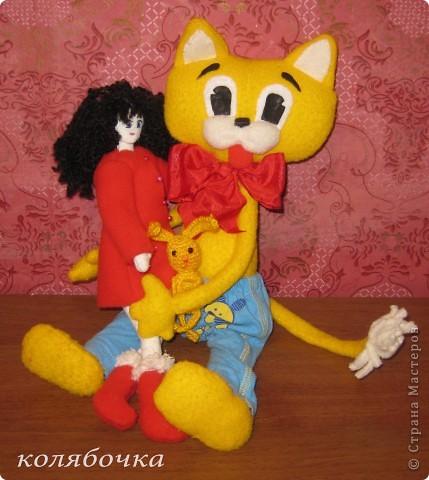 """С самого детства мечтала иметь кота-Леопольда.Наконец-то моя мечта сбылась.Весь вечер сегодня """"игралась"""" с новой игрушкой,результаты ниже фото 10"""