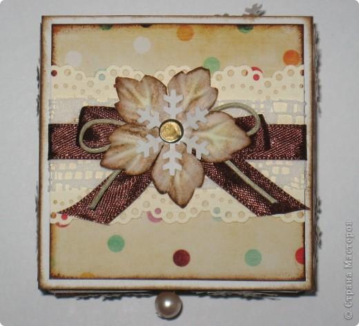 Сделала парочку коробочек для небольших новогодних подарочков и останавливаться на достигнутом не собираюсь -)))) фото 2
