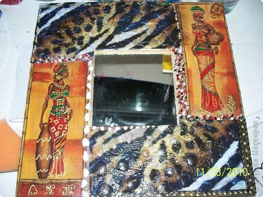 Вот такое зеркало у меня получилось в африканской тематике  фото 2
