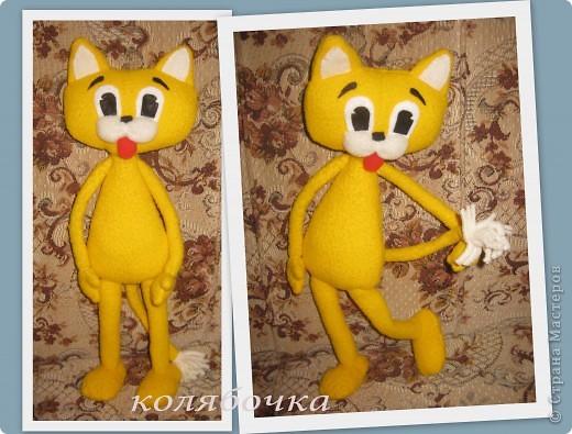 """С самого детства мечтала иметь кота-Леопольда.Наконец-то моя мечта сбылась.Весь вечер сегодня """"игралась"""" с новой игрушкой,результаты ниже фото 3"""