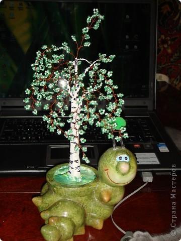 Дерево из бисера фото 1