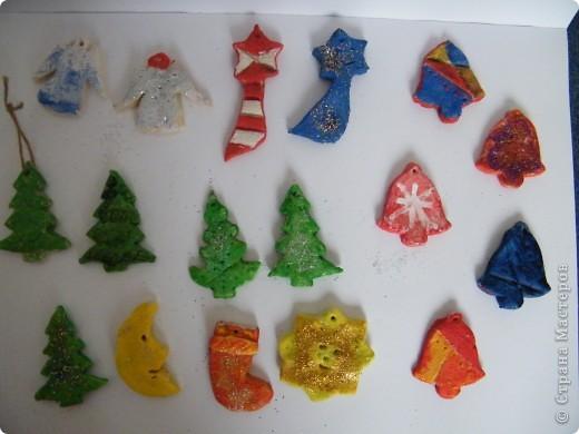 Игрушки на елку из соленого теста фото 1
