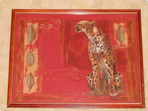 вышивка на красной канве фото 1