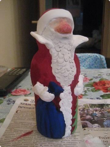 Ну, какой же Новый год без Деда Мороза? Вот я и решила провести урок лепки с детьми 4 класса.  фото 22