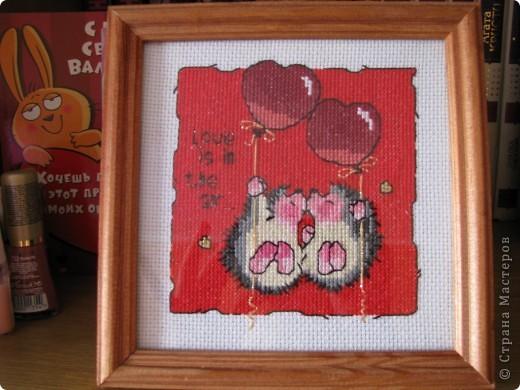 вышивка на красной канве фото 4