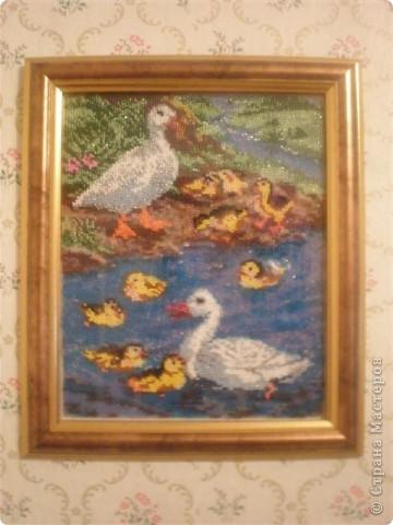 Картины вышитые лентами и бисером Вышивка.