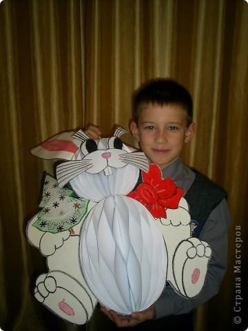 Вот такого зайца мы с ребенком сотворили для конкурса новогодней игрушки в школе. фото 2