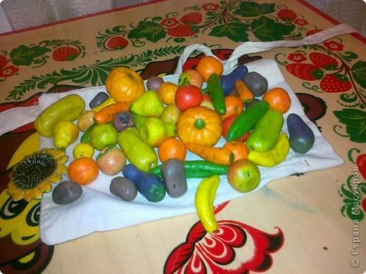 Овощи из соленого тетста фото 1
