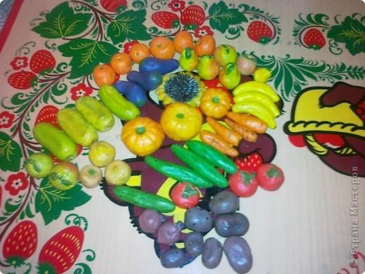 Овощи из соленого тетста фото 2