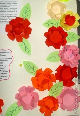 вот такую коллективную работу я делала с детьми 5-6 лет в детском саду. поросята, циплята и курочки сделаны в технике оригами; всё остальное нарисовано на ватмане гуашью. фото 7