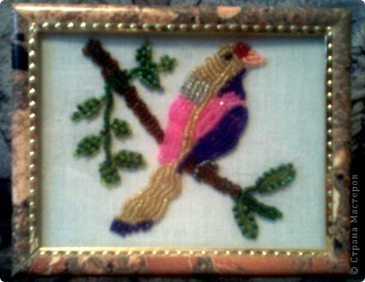 """Картина """"Птичка на ветке"""""""