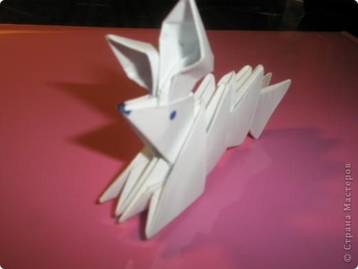 Новогодний кролик из модулей фото 2