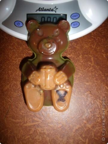 Вот только беда - у мишки отпечатался крест, а я его не могла стереть, но зато на форме его больше нет!  фото 1