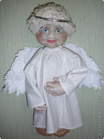 Дуже хотілося зробити ангелочка. Ось який він у мене вийшов.