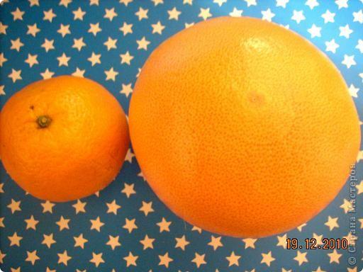 Нам понадобится апельсин с толстой кожурой и довольно большого размера. Можно взять  грейпфрут... фото 1