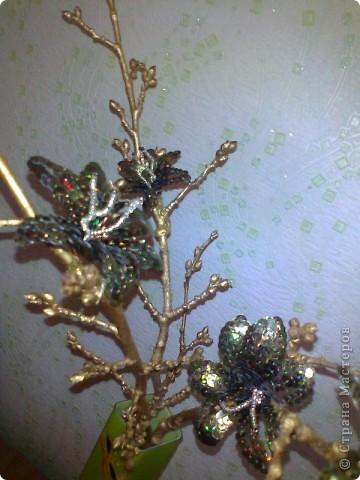 Икебана,цветы из паеток;) фото 2