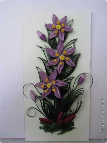 Вот такие цветочки я сделала в подарок на Новый год своей сестренке.  Внутренний размер рамки 10 на 20 см. фото 2
