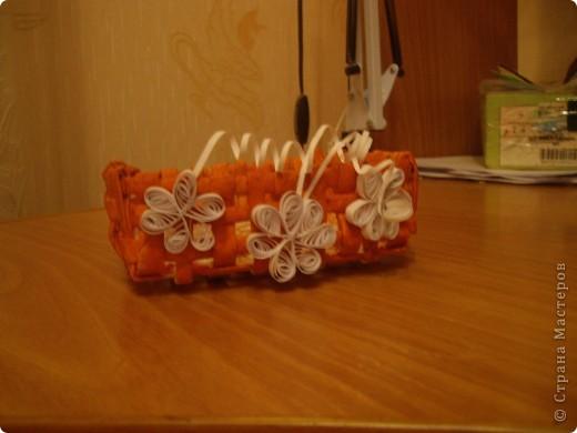 Моя первая работа в плетении. Очень старалась, т.к. хотела сделать подарок для подруги. Оцените. фото 2