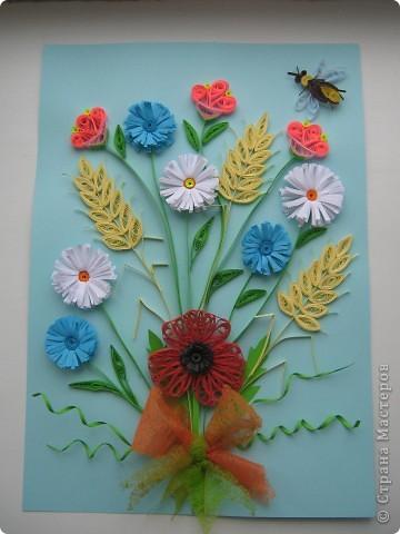 Букет из полевых цветов. Одна из моих первых работ. фото 1