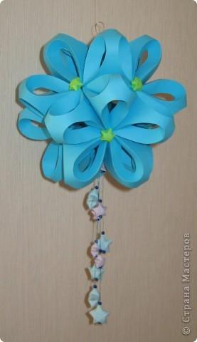 Кусудама цветочек со звездочками фото 1
