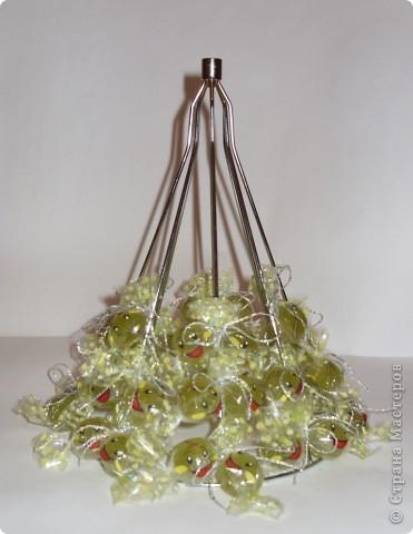 Покупка в хозяйственном отделе послужит основой для сладкой елочки. фото 4