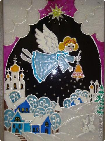По мотивам батика na-ta-li  (http://stranamasterov.ru/node/116155?c=favorite)  родились у нас вот такие 2 рождественские работы фото 4