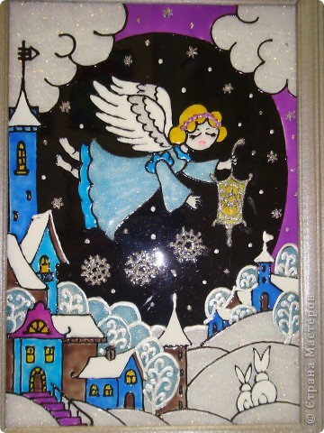 По мотивам батика na-ta-li  (http://stranamasterov.ru/node/116155?c=favorite)  родились у нас вот такие 2 рождественские работы фото 2