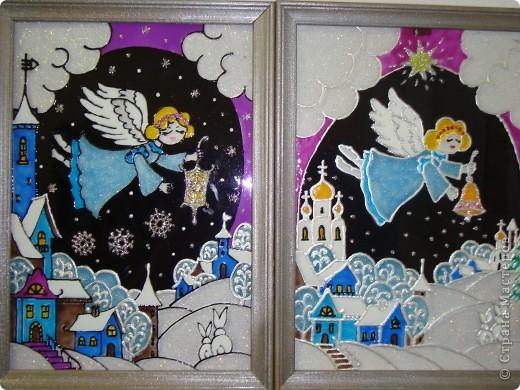 По мотивам батика na-ta-li  (http://stranamasterov.ru/node/116155?c=favorite)  родились у нас вот такие 2 рождественские работы фото 1